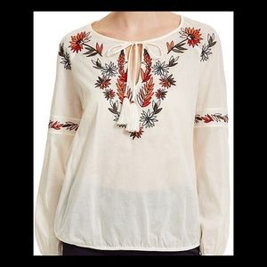 tory burch floral embroidered peasant blouse 12